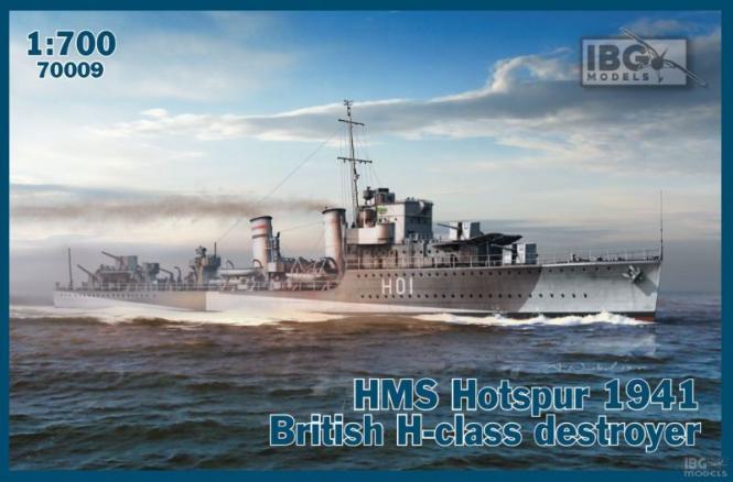 HMS Hotspur 1941 British H-class destroyer