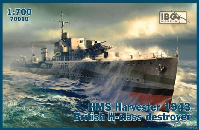 HMS Harvester 1943 British H-class destroyer