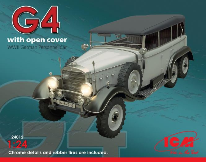 G4 with open cover WWII German Personnel Car