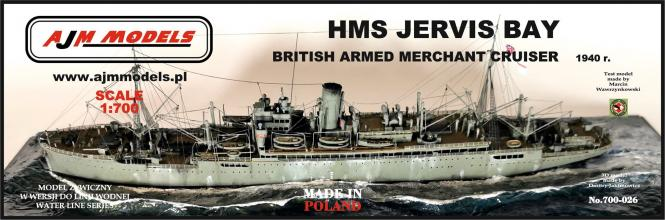 HMS Jervis Bay British Armed Merchant Cruiser 1940