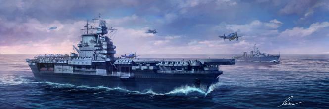 USS Enterprise (CV-6) US Navy Aircraft Carrier