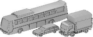 1/700 Car Set F (3 Types, 4 each)