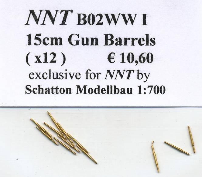 15cm Met.Gun Barrels(x12) WWI