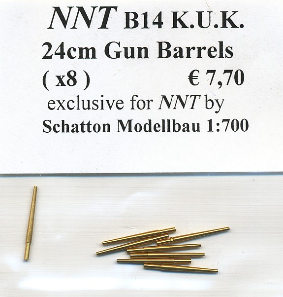 24cm Gun Barrels (x8)