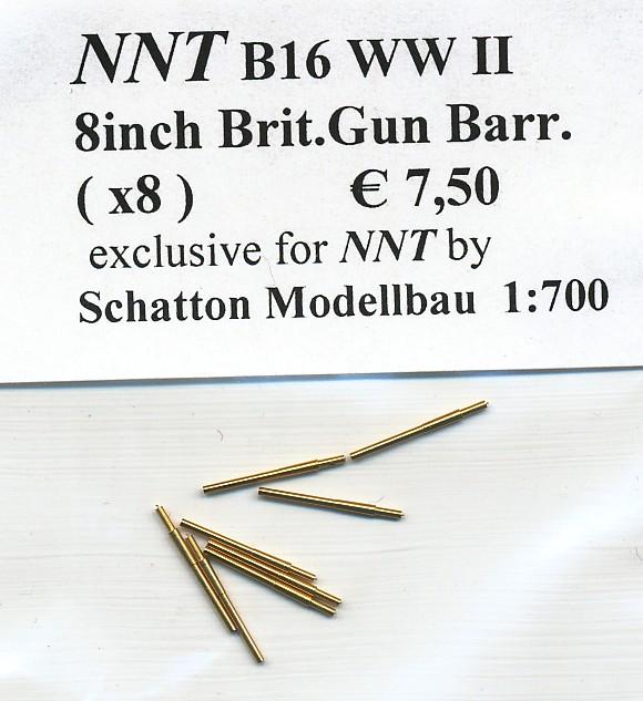 8inch Brit. Gun Barrels (x8)