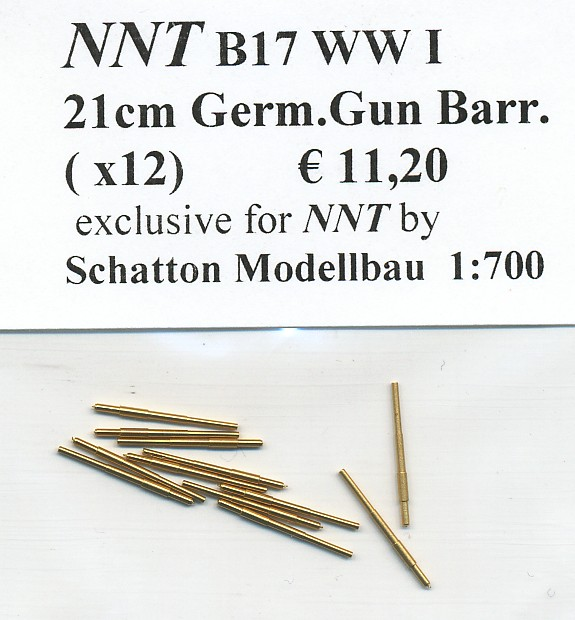 21cm German Gun Barrels (x12)