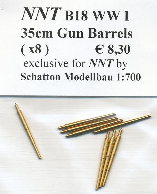 35cm Germ. Gun Barrels (x8)