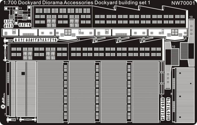 Dockyard building set 1