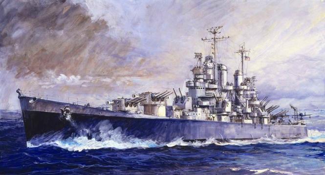USS Cleveland CL-55 Light Cruiser