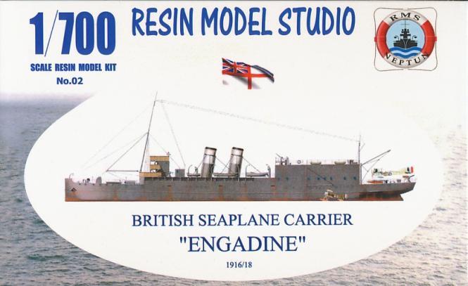 British Seaplane Carrier Engadine 1916/18