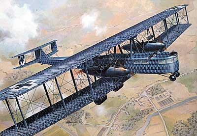 Zeppelin Staaken R.VI Aviatik built R52/17 WWI German Bomber