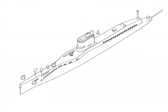 US Navy S-class submarine (x2)