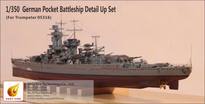 German Pocket Battleship Graf Spee Detail Set (for Trumpeter)
