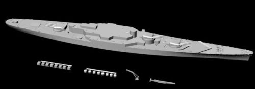 French Battleship Alsace (project)