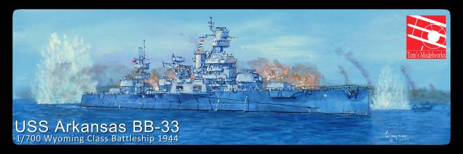 USS Arkansas BB-33 Battleship -1944-
