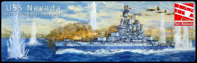 USS Nevada BB-36 Battleship -1944-