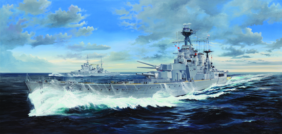 HMS Hood Battleship 1/200