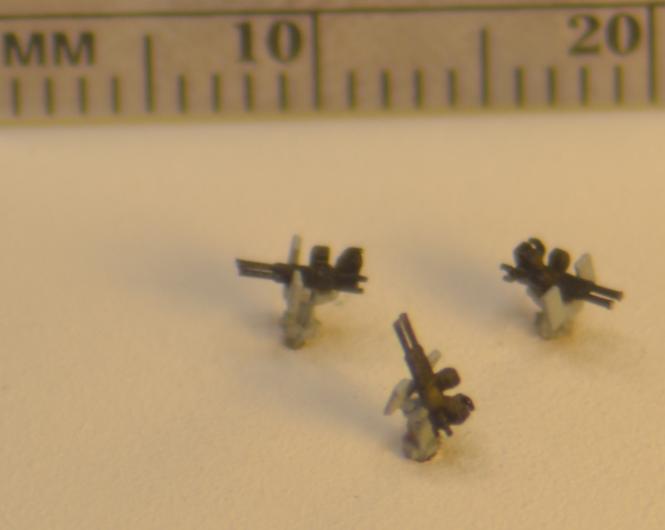 Twin 20 mm Oerlikon Cannons Tripod Mount (x24)