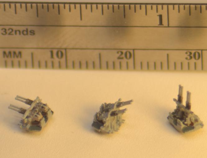 Quadruple 40 mm Bofors Autocannons without Shields (8 pcs)