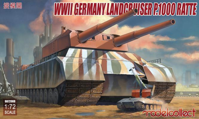 WWII German Landcruiser P.1000 Ratte 1/72