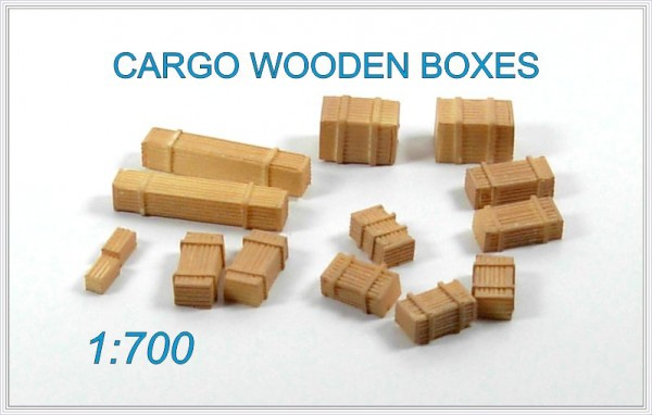 Cargo Wooden Boxes (14x)