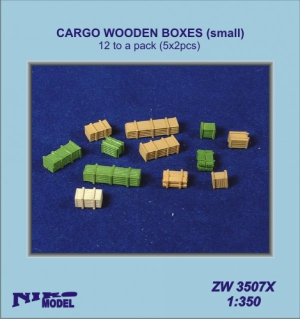 Cargo Wooden Boxes small(6x2pcs.)