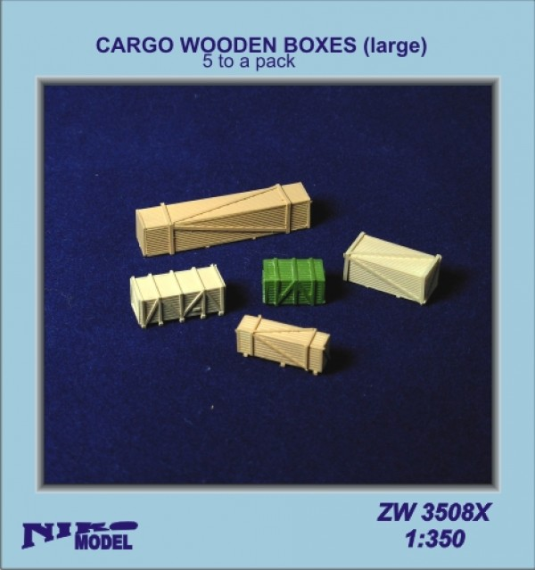 Cargo Wooden Boxes large (5 to a pack)
