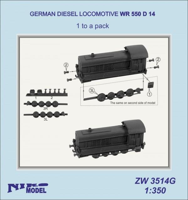 Lokomotive Germ. Diesel WR 550 D 14